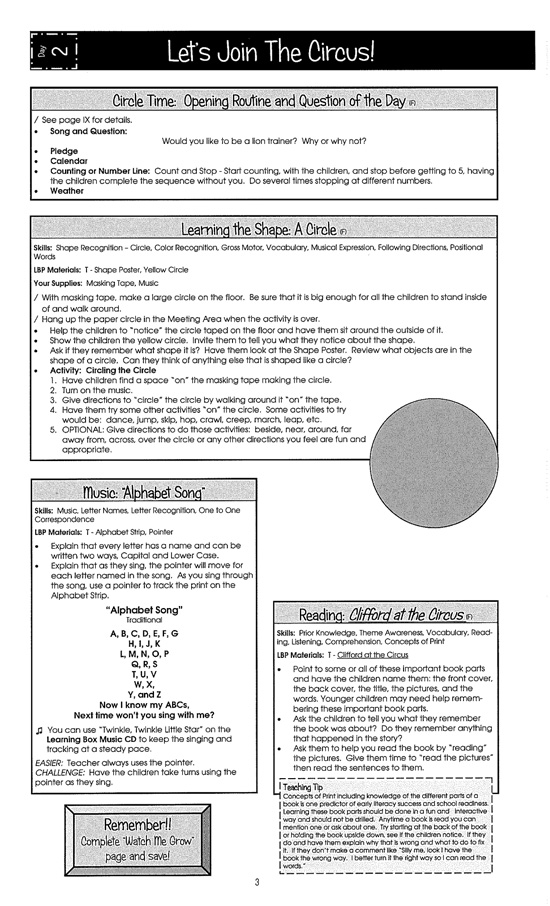 sample preschool curriculum